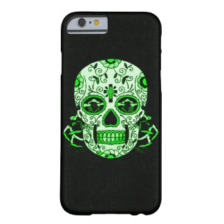 Green Vintage Skully Skull Dead Head Party Skull Barely There iPhone 6 Case