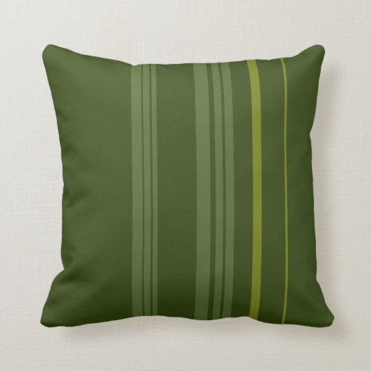 Green Vintage Stripes Art Design Abstract Throw Pillow