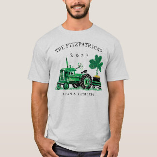 Green Vintage Tractor St. Patrick's Day T-Shirt