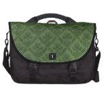 Green Vintage Wallpaper Laptop Messenger Bag