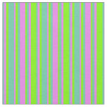 [ Thumbnail: Green, Violet & Aquamarine Colored Stripes Fabric ]