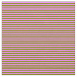 [ Thumbnail: Green & Violet Colored Lined/Striped Pattern Fabric ]