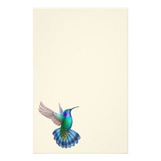 Green Violet Eared Hummingbird Stationery