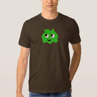 Green Violet with a shamrock T-shirt