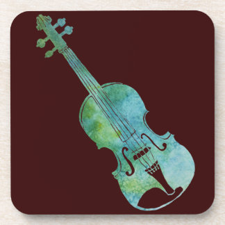 Green Violin Coaster