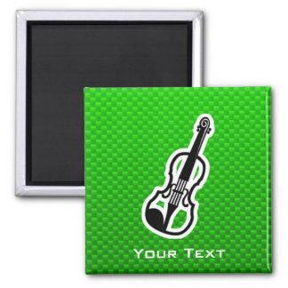 Green Violin Magnet