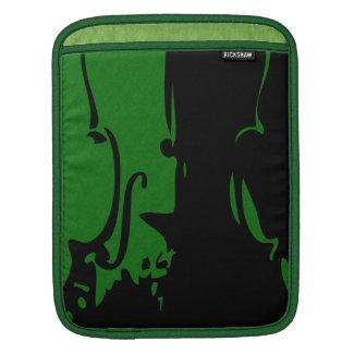 Green Violin Rickshaw iPad Sleeve