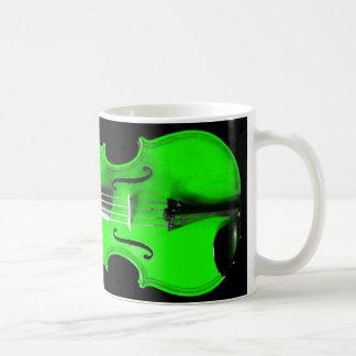 Green Violin / Viola Mug