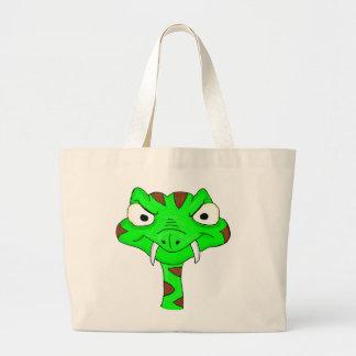 Green viper large tote bag