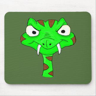 Green viper mouse pad