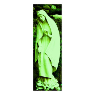 Green Virgin Mary BOOKMARK Mini Business Card