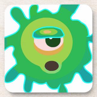Green virus coaster