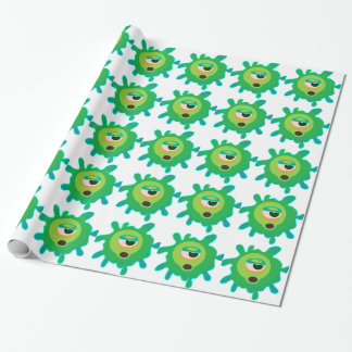 Green virus wrapping paper