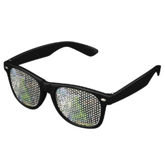 Green Visitor From Outer Space Graffiti Retro Sunglasses