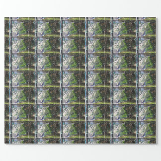Green Visitor From Outer Space Graffiti Wrapping Paper