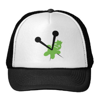 green vodoo icon trucker hat