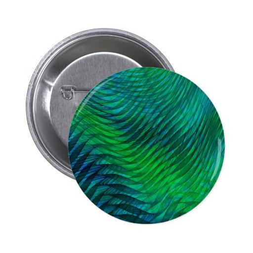 Green Voile 2 Inch Round Button