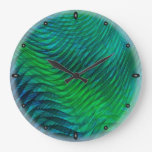 Green Voile Clock