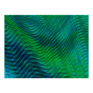 Green Voile Print