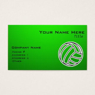Green Volleyball Business Card
