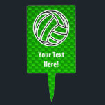 """Green Volleyball Cake Topper<br><div class=""""desc"""">You will love this sleek green volleyball team sport ball girl sports design. Great for gifts! Available on tee shirts, smart phone cases, mousepads, keychains, posters, cards, electronic covers, computer laptop / notebook sleeves, caps, mugs, and more! Visit our site for a custom gift case for Samsung Galaxy S3, iphone...</div>"""
