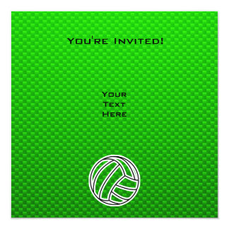 Green Volleyball Card