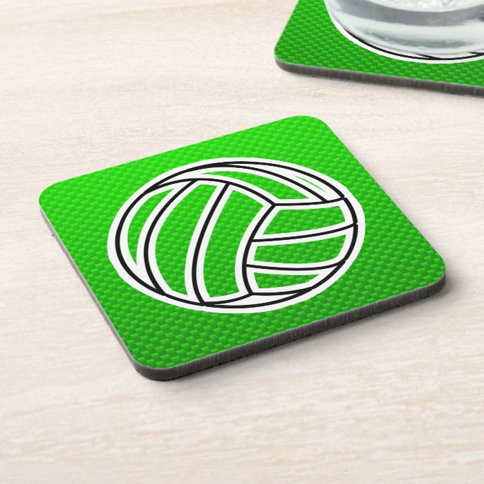 Green Volleyball Coaster