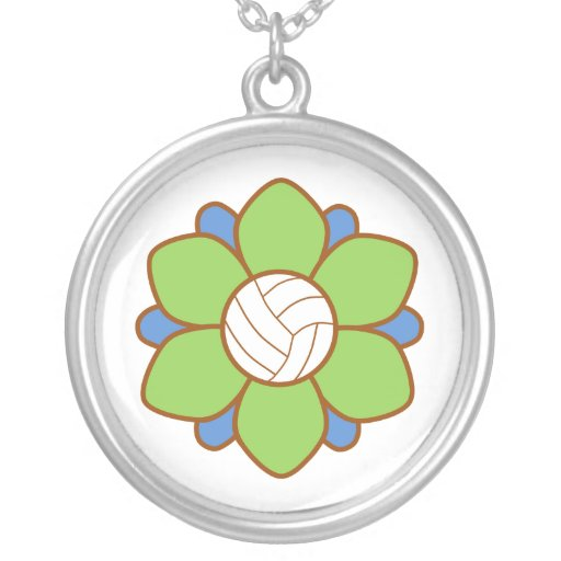 Green Volleyball Girl Custom Jewelry