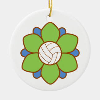 Green Volleyball Girl Christmas Tree Ornaments