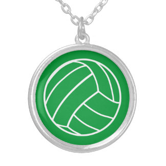 Green Volleyball Necklace