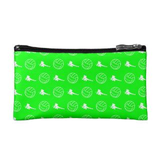 Green Volleyball Pattern Clutch