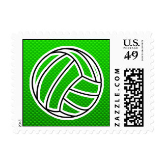 Green Volleyball Postage