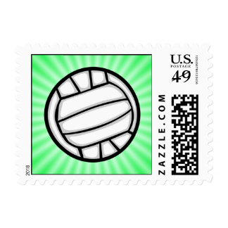 Green Volleyball Postage Stamps