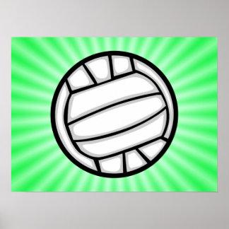 Green Volleyball Print