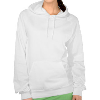 Green Volleyball Spike Silhouette Hooded Pullover