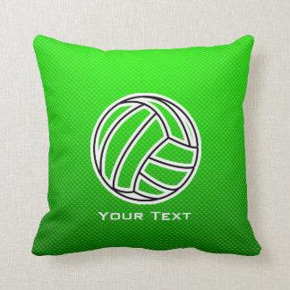 Green Volleyball Throw Pillow