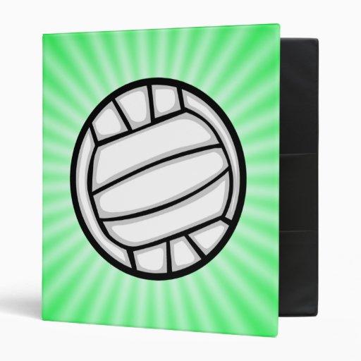 Green Volleyball Vinyl Binders