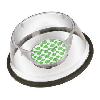 Green volleyballs pet bowl