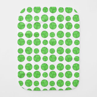 Green volleyballs baby burp cloth