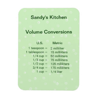 Green Volume Conversion Cooking Magnet
