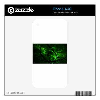 Green Vortex Decals For iPhone 4