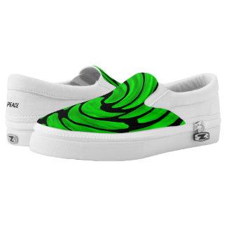 Green Vortex Slip On Canvas Shoes