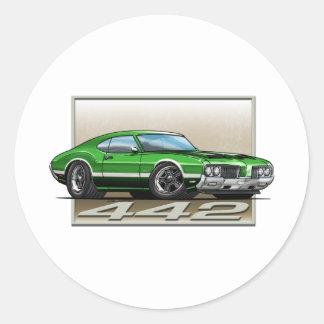 Green_W_70_442 Classic Round Sticker