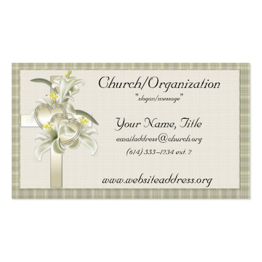 Minister business card templates bizcardstudio green wgold crossheartsflowers business cards colourmoves