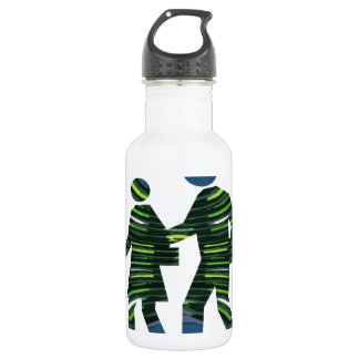 GREEN Walk Earth Environment Wild Habitat NVN239 Water Bottle