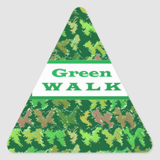 GREEN WALK greenwalk Triangle Sticker