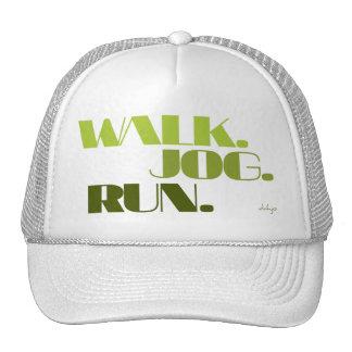 GREEN WALK JOG RUN (font CHUNKY) Trucker Hat