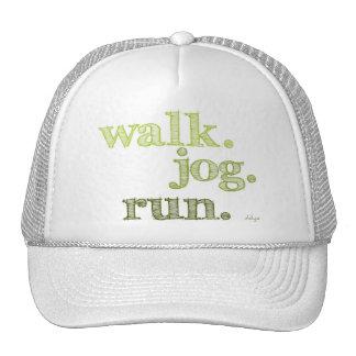 GREEN WALK JOG RUN (font SHADED) Trucker Hat
