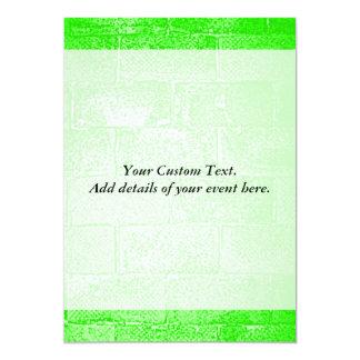 Green Wall. Digital Art. 5x7 Paper Invitation Card