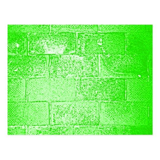 Green Wall. Digital Art. Postcard